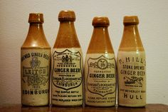 Four Ginger Beer Bottles Manufactured By Buchan, Portobello Edinburgh, Scotland 1850s - 1900s… | Flickr