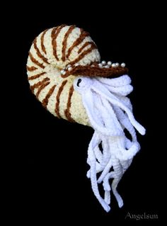 Naughty Nadia the Chambered Nautilus Crochet  Pattern by angelsunawares, $5.99