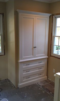 Custom Built In Armoire Or Linen Closet Bathroom