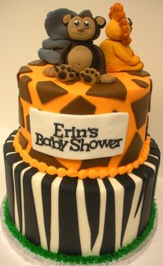 Safari Themed Baby Shower Cake from The Cupcake Shoppe in Raleigh