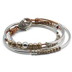 Mini Katie leather wrap bracelet shown in Metallic Copper Leather
