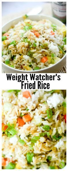 Weight Watcher's Fried Rice - Recipe Diaries #rice Skinny Recipes, Light Recipes, Rice Recipes, Asian Recipes, Healthy Recipes, Detox Recipes, Seafood Recipes, Recipes Dinner, Side Dishes