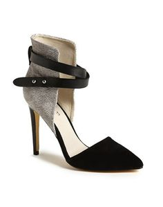 joe's pumps - great ankle strap shoes at redsoledmomma.com