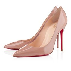 Louboutin decollete 554 100mm nude patent leather - First big thing I'm going to buy once I graduate.
