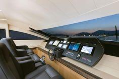 Internal view Pershing Yacht - Pershing 92 #yacht #luxury #ferretti #pershing