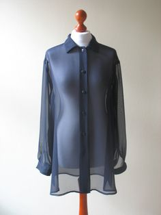 Hey, I found this really awesome Ets listing at https://www.etsy.com/listing/161298187/dark-blue-navy-sheer-chiffon-blouse-long