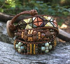 SEDONA, Beaded Bracelet, Wrap Bracelet, Beaded Wrap Bracelet, Beaded Leather Bracelet, Fall Jewelry, Triple Wrap, Twinkling Of An Eye, OOAK These bracelets are all the rage and are versatile enough to complement your wardrobe day or night. Whether you need the perfect accent for a