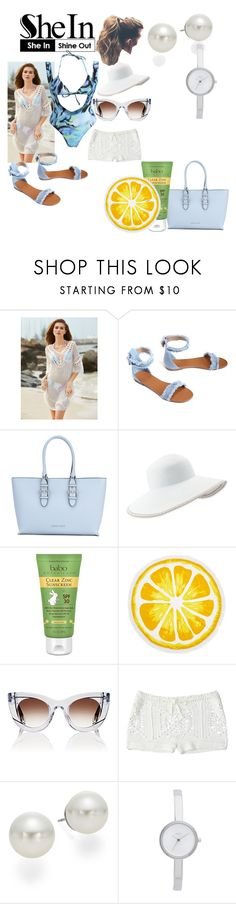 """""""white beach"""" by crythin ❤ liked on Polyvore featuring Armani Jeans, Eric Javits, Babo Botanicals, Nordstrom Rack, Thierry Lasry, AK Anne Klein and DKNY"""
