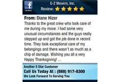 Thanks to the great crew who took care of me during my move. I had some very unusual...