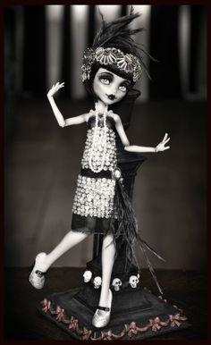 "OOAK Monster High Frankie ""Florence The Flapper"" Custom Doll Great Gatsby Silvee | eBay"
