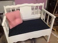 Bench made from twin bed