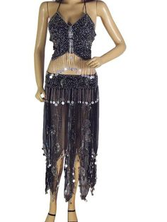 Black Belly Dance Dress Wear Costume Wrap Skirt « Dress Adds Everyday