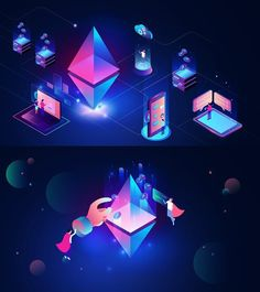 The pros and cons of Bitcoin - All About Bitcoin Isometric Art, Isometric Design, Digital Illustration, Graphic Illustration, Affinity Designer, Illustrations And Posters, Graphic Design, Web Design, Portfolio