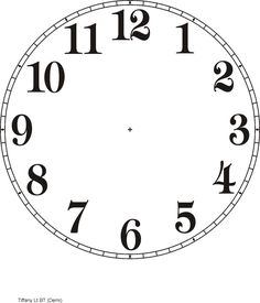 The best selections of blank clock face templates are available for your kids in high definition that they can use as the media to learn telling time. Clock Template, Face Template, Cross Stitch Books, Modern Cross Stitch, Blank Clock Faces, Clock Face Printable, Vitrine Miniature, Diy Clock, Clock Craft