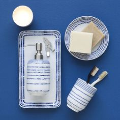 Hand-Painted Dotted Bath Accessories   west elm