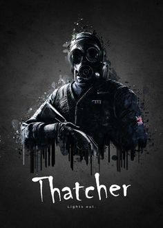 """Rainbow Six Siege Characters Thatcher #Displate artwork by artist """"TraXim"""". Part of a 33-piece set featuring artwork based on characters from the popular Rainbow Six video game. £37 / $49 per poster (Regular size), £74 / $98 per poster (Large size) #RainbowSix #RainbowSixSiege #TomClancy #TomClancysRainbowSix #Rainbow6 #Rainbow6Siege #TomClancysRainbow6 #Ubisoft"""