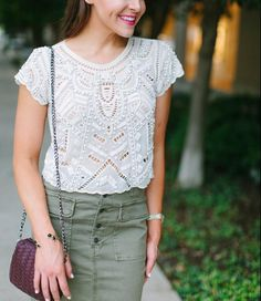 Embellished Top l Shop this look at Fashion & Frills l http://fashionandfrills.com/the-most-exquisite-embellished-top/