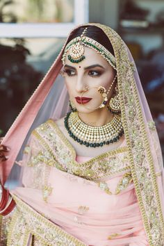 If you are wearing a light coloured wedding outfit, contrasting dark makeup is a good idea. Know more about MakeUp Trials here #Frugal2Fab