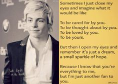 Thank you Ross for changing my point of view in life and music.