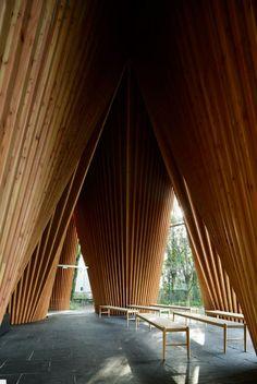 Sayama Forest Chapel by Hiroshi Nakamura & NAP   http://www.yellowtrace.com.au/sayama-forest-chapel-by-hiroshi-nakamura-and-nap/