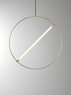 ed046, suspension minimaliste et géométrique par Edizioni Design