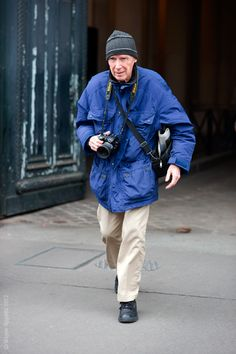Bill Cunningham, king of street style photography.  Just watched a documentary on him--fascinating!