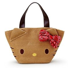 a841ae34d5 Hello Kitty basket-style tote bag Sanrio Beach style series     See this  great product.(It is Amazon affiliate link)  HelloKitty