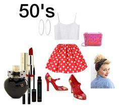 """50's"" by camillastefan1 on Polyvore featuring moda, Monki, Dolce&Gabbana, Chanel, Roberta Chiarella, Aéropostale, Stila e vintage"