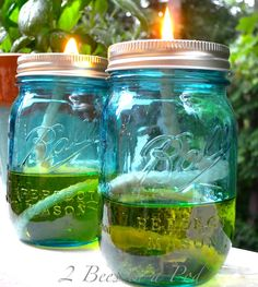 DIY Citronella Candles tutorial