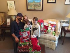 Our sincere thanks to Blue Acorn CEO Kevin Eichelberger and his wife Megan, CYDC's 2016 Gala Committee chair, and their family, who stopped in on the morning of December 23, 2015 to drop off gifts for our kids. We are so grateful to have Blue Acorn as our friend and partner! #spiritofgiving #christmas