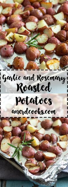 Garlic and Rosemary Roasted Potatoes | A Nerd Cooks
