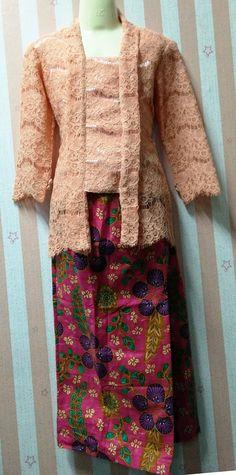 Baju Kebaya Lace Budak Peach - 5yr 4dd075bb77