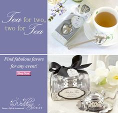 Two for Tea, Tea for Two: Two Tea favors | from http://www.theweddingoutlet.com/