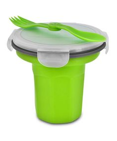 Loving this Green Eco Travel Bowl & Utensil on #zulily! #zulilyfinds