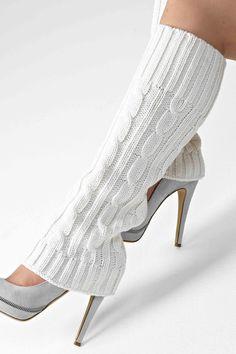 Ideas Crochet Sweater Girl Leg Warmers For 2019 Thigh High Leg Warmers, Girls Leg Warmers, Thigh High Socks, Crochet Leg Warmers, Boot Cuffs, Boot Socks, Crochet Slippers, Fashion Heels, Girls Sweaters