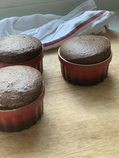 Try These Easy Dark Chocolate Soufflés. They are quick and delicious to make. They come out light, rich and chocolatey. | CatchMyParty.com Cookie Recipes, Snack Recipes, Souffle Recipes, Fun Desserts, Dessert Ideas, Chocolate Souffle, Good Food, Fun Food, Delicious Dinner Recipes