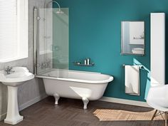 traditional bath - a way to get a freestanding bath along with a shower screen? at ukbathroomstore.co.uk