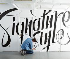 Designlines Mural by Ben Johnston