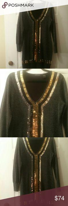 Selling this Sequin/Glitter Party Sweater Dress on Poshmark! My username is: glitterngarb. #shopmycloset #poshmark #fashion #shopping #style #forsale #Moda International #Dresses & Skirts