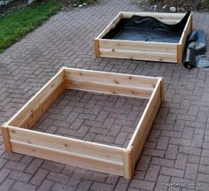 Frugal Family Times: How to Build Raised Garden Bed Boxes (Growing Vegetables in our Driveway)