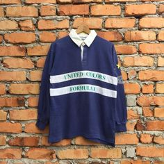 054d7e0c7d2 Vintage Rare United Colors of BENETTON Formula 1 Pitstop Crew rugby shirt