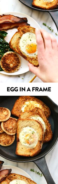 Looking for a fun way to eat eggs and toast? This egg in a Frame recipe will only take you 10 minutes AND is the coolest breakfast around!
