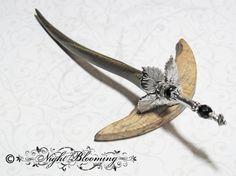 Dark Dagger of the Unseelie King Hair Stick by NightBlooming