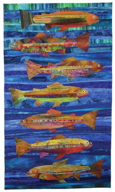 Metolius quilt pattern, 40.5 x 70, by Jean Wells at The Stitchin' Post. Seen at Quilt Inspiration: The Great Outdoors Part 3