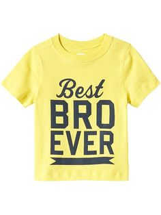 """""""Best Bro Ever"""" Tees for Baby"""