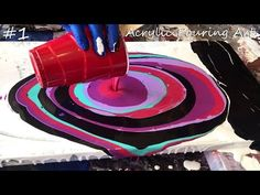 Acrylic Dirty flip cup Painting... Lots of Cells easy for beginners - YouTube