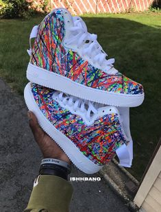 Customized High Splatter AF1s - All men sizes, but can be converted to womens if needed - All customs come out differently everytime, but same concept due to it being splattered - All customs take 1-3 weeks, be patient with me as it is both myself and my brother. - Done with a