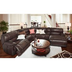 The Most Comfortable Sectional Sofa For Your Living Room Inspiration Sectional, Living Room Inspiration, Reclining Sectional With Chaise, Furniture, Living Room Leather, Leather Living Room Furniture, Living Room Seating, Couches Living Room, Living Room Sectional