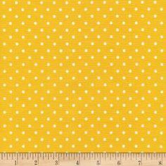 Timeless Treasures Polka Dots Yellow