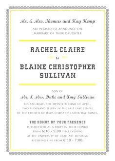 Rachel & Blaine - Wedding invitation inspired by cacti and high noons and saloon piano music from the wild, wild west.